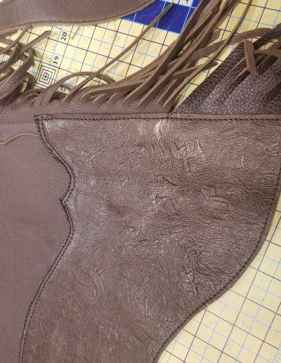Chaps Lengthening: After (Close-up)