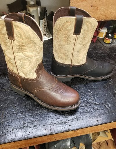 Re-Dyed Boots: Before & After (Side View)