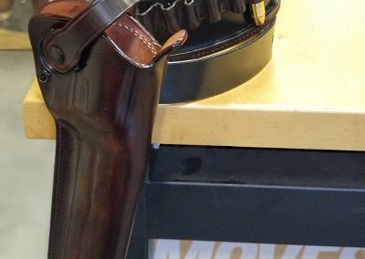 Bullet Belt with Re-Dyed Holster