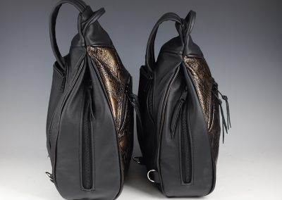 Large and Small Sling Pack Comparison: Side View