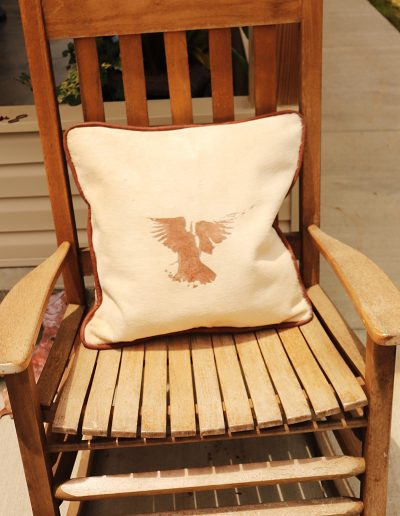 Pillow Cover: Cow Fur with Angel Etched (Front-Side)